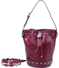 old trend turquoise cove bucket bag