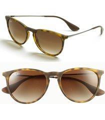 ray-ban erika classic 54mm sunglasses - havana/ brown gradient