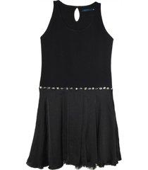 vestido negro mapamondo carla