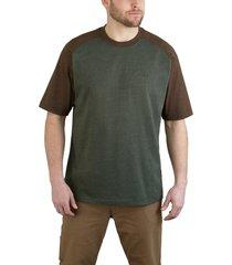 wolverine men's brower short sleeve raglan tee green heather, size xxl