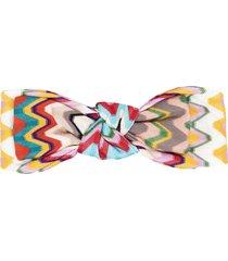 missoni zigzag knot headband - neutrals