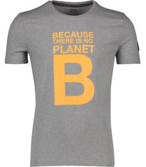ecoalf t-shirt grijs gemeleerd 'natal great b'