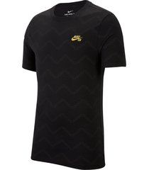 sueter nike tee aop quilted-negro