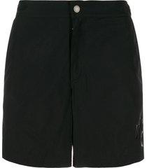 alexander mcqueen logo print swim shorts - black