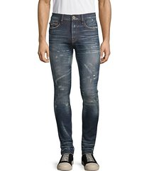 super skinny-fit distressed jeans