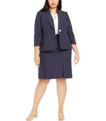 le suit plus size skirt suit