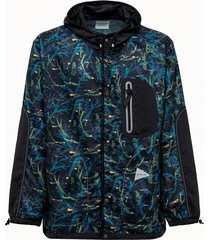and wander parka in tessuto blu