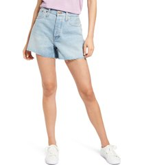 madewell women's curvy relaxed denim shorts, size 28 in cedarcroft at nordstrom