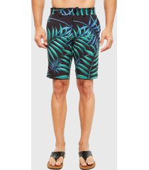 traje de baño mormaii tropical short negro - calce regular