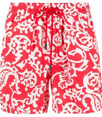 etro floral print swim shorts - red