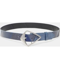 leather effect belt patch - blue - 95