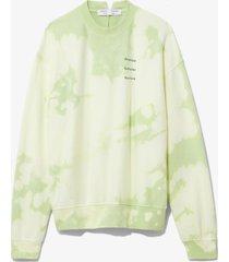 proenza schouler white label tie dye sweatshirt pistachio/ wht marble t/dye/yellow l