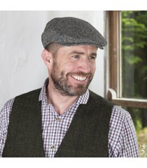 irish wool trinity flat cap herringbone xxl
