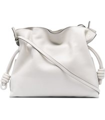 loewe flamenco drawstring clutch bag - white