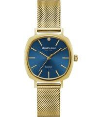 kenneth cole new york ladies diamond gold tone mesh bracelet watch 34mm