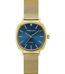 kenneth cole new york ladies diamond gold tone mesh bracelet watch 34mm