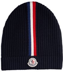men's moncler stripe wool beanie -
