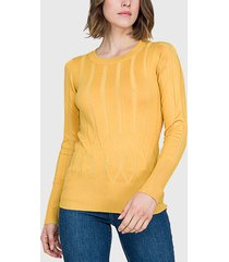 sweater ash amarillo - calce ajustado