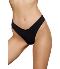 skims stretch cotton dipped thong, size xx-small in soot at nordstrom