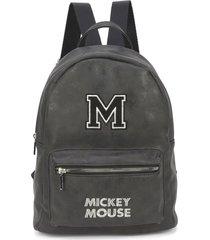 mini mochila luxcel mickey 78443 preta - preto - feminino - dafiti