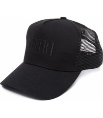 amiri mesh-panelled cap - black