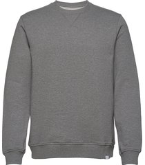 hugo crew neck 11414 sweat-shirt trui grijs samsøe samsøe