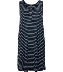 dress sleeveless plus round neck dresses t-shirt dresses blå zizzi