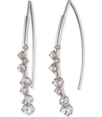 givenchy crystal stone threader earrings