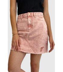 falda jacqueline de yong rosa - calce regular