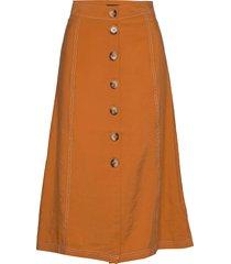 valley midi skirt knälång kjol orange superdry