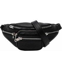 mini attica soft fanny pack, black