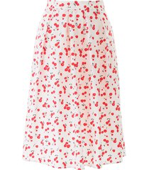 hvn hope cherry print pleated skirt
