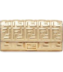 fendi baguette continental wallet - gold