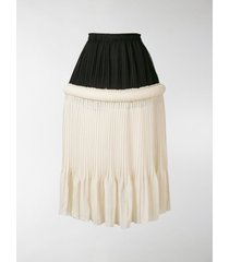 jw anderson drop-waist knife-pleat skirt