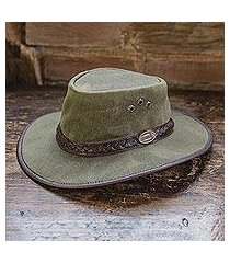 men's waxed cotton hat, 'blyde river' (south africa)