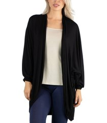 24seven comfort apparel circle shape long sleeve women cardigan