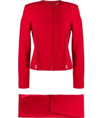 versace pre-owned fitted cutout trousers & top set - red