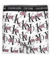 cueca calvin klein underwear boxer trunk ck one off-white