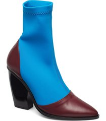 rodebjer cili shoes boots ankle boots ankle boot - heel blå rodebjer