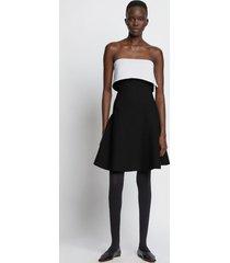 proenza schouler two tone knit dress black/white m