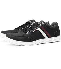 sapatãªnis sapato casual sapatofran com elã¡stico preto - preto - masculino - sintã©tico - dafiti