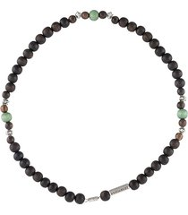 dsquared2 beaded short necklace - brown