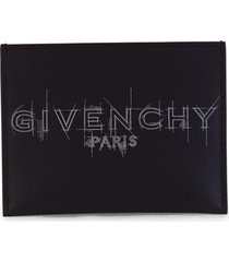 givenchy graffiti logo card holder