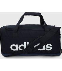 maletín azul-blanco adidas performance duffel bag