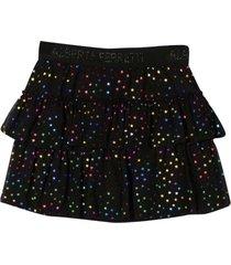 alberta ferretti black teen skirt