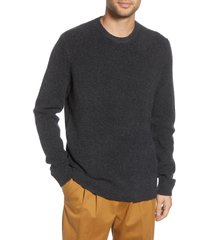 men's french connection aries fisherman sweater, size medium - grey