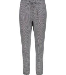 pantalón mujer estampado a rayas color negro, talla 10