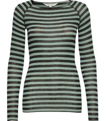 amalie medium stripe t-shirts & tops long-sleeved groen gai+lisva