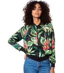 tropical print bomber jacket #losangeles