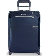 men's briggs & riley baseline 21-inch expandable wide-body spinner carry-on - blue